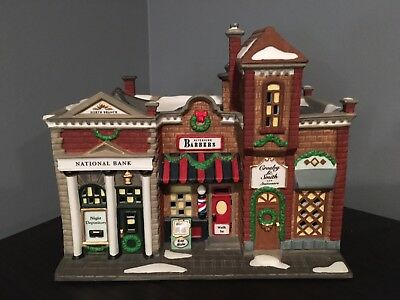 """Department 56, Christmas in the City. """" Riverside Row Shops"""" 1997"""