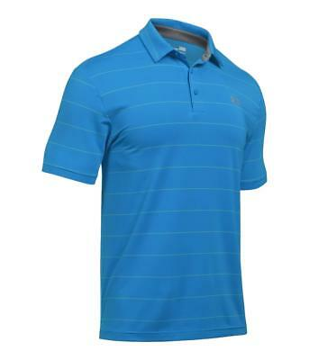 Under Armour Men's UA HeatGear Playoff Striped Loose Fit Golf Polo - NWT