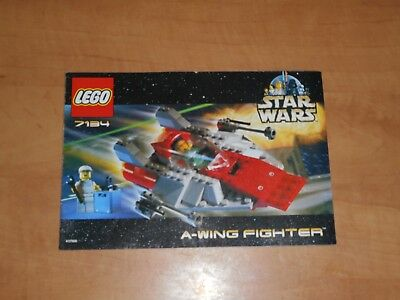 LEGO Star Wars 7134 A-Wing Fighter Instructions Manual Only NM 2000