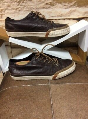 ⭐️ Frye Men's Lace Up Leather Sneaker Color Dark Brown Size 11⭐️