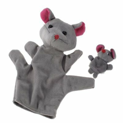 Grey Mouse Hand Puppet Finger Puppets J2B6