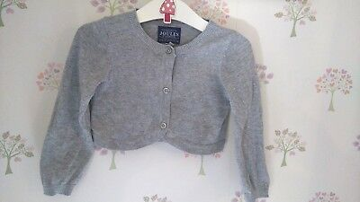 Joules Cotswold Christmas Holidays Bolero Cardigan Silver 18-24 EUC Next DP