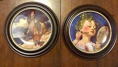 Norman Rockwell - set of two Waiting by the Shore & Making Believe in the Mirror