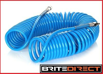 Spiral Pneumatic Air Hose Pipe Airline Connections Tube Fittings compressor tech