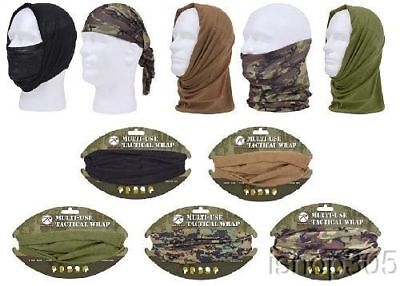 Rothco Multi-Use Military Camo Tactical Head Face Neck Wrap Bandana Balaclava