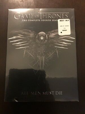 Game of Thrones: The Complete Fourth Season (DVD, 2015, 4-Disc Set) SEALED! A5
