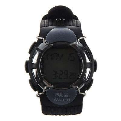 Sport Pulse Heart Rate Calorie Counter Watch with Monitor Black L3K5
