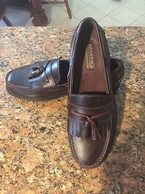 Sperry Top Sider Seaport Loafers Collection Slip On Brown Leather Mens Shoes 11M