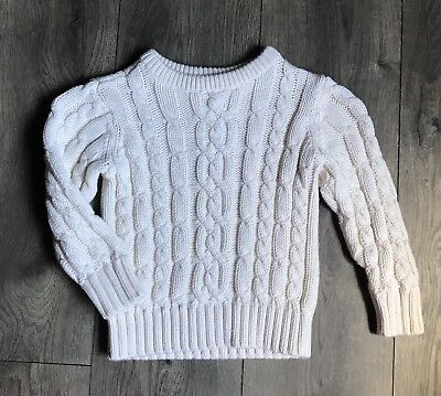 Boys Old Navy Cream Cable Knit Thick Sweater Size 3T