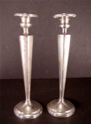 "Antique El S Co. Sterling Silver .925 Candlesticks 9.5"" Tall Weighted"