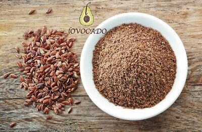 Ground Flaxseed Powder Linseed flour / superfood / 100g - 10kg / Lovocado