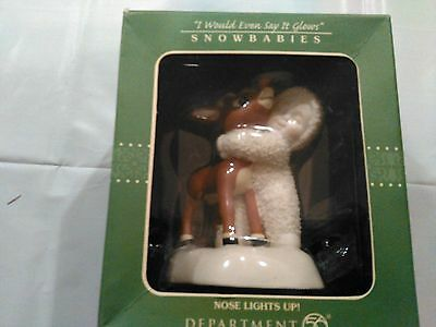 Dept 56 Rudolph Snowbabies Nose Lights Up brand new in box