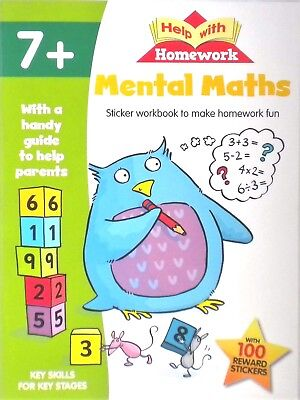 MORE MATHS | Help with Homework | Age 5+ Workbook|100 Stickers|Guide ...