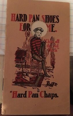 Late 19th Early 20th Century Shoe Advertising Booklet Baseball Player Michigan
