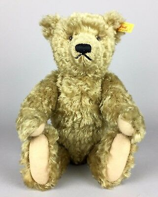 Steiff -Classic 1920, 35- Jointed Brass Brown Growler Mohair Teddy Bear -000737-