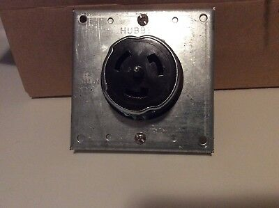 HUBBELL 50A 250V 2-Pole 3-Wire Twist-Lock Receptacle