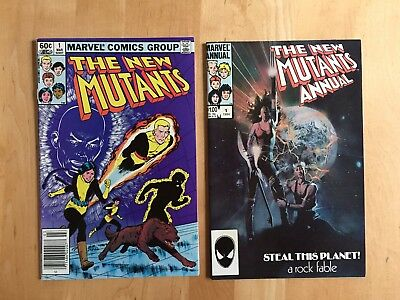 New Mutants #1 (Marvel 1983) + Annual #1 Vf/nm To Nm Lot!