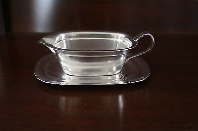 Reed and Barton Sauceboat with Tray Mayflower