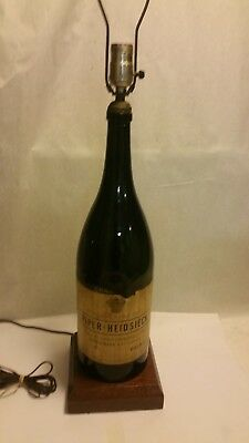 Vintage pre-1950's PIPER HEIDSIECK CHAMPAGNE OF FRANCE LAMP