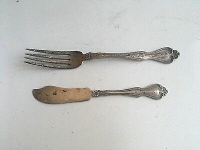 Vintage Westmorland Sterling Butter Knife and Fork