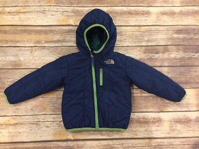 The North Face Boys Reversible Winter Jacket Coat With Hood 18-24 Months EUC
