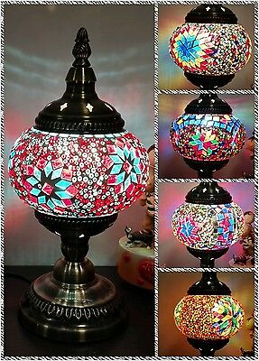 Turkish Lamp Glass Mosaic  Exotic Colourful Moroccan Style Hand Made