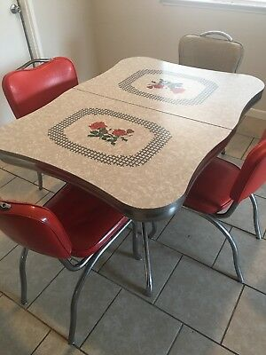 vintage ,formica ,kitchen table ,mid century ,antique,1950s