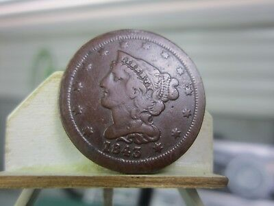 1843 Half Cent, circulated condition of a rare date    >>>> LOOK <<<<<