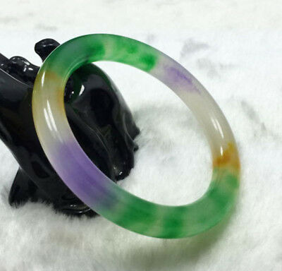 Fashion Chinese Natural Beautiful Lavender Green Nephrite Jade Bangle Bracelet