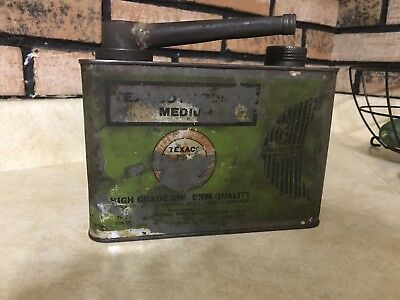 CIRCA EARLY 1930`S TEXACO MOTOR OIL 1/2 GALLON MOTOR OIL CAN rare