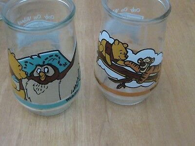 2 Welchs Collectible Glasses Winnie The Pooh Jelly Jars Poohs Grand Adventures