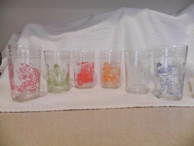 1953 Howdy Doody Welch's Collectible Jelly Glasses Set Of 6