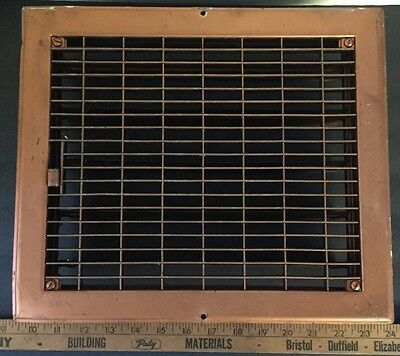 Vintage Stamped Steel Floor Heat Grate Register Vent Old Hardware 11 1/2x 13 1/2