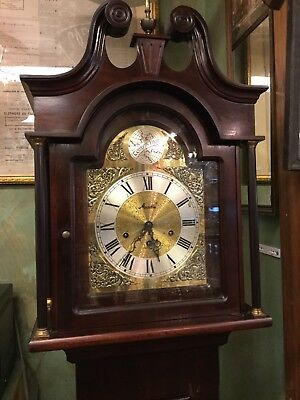 Vintage Daneker Floor Clock Grandfather Mauthe Germany Clock Work CHERRY WOOD
