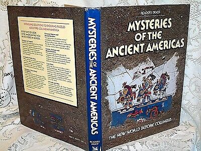MYSTERIES of the ANCIENT AMERICANS by READERS DIGEST~1986 HB/DJ~OLMEC~AZTEC~ART