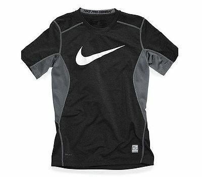 NWT Nike T-Shirt Boys 8-20 Core Fitted Swoosh Tee Dri Fit All Color - All Sizez
