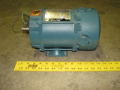 RELIANCE Duty Master AC Electric Motor C56H2502M-RP, 1/2 HP, 1725 RPM, 115/230V