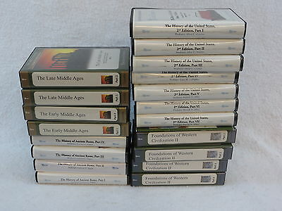 Lot of GREAT COURSES Rome Middle Ages United States History Cassettes