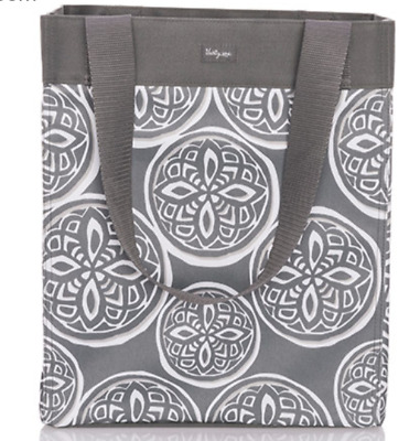 New Thirty One Essential Storage Tote Woodblock Whimsy Pattern