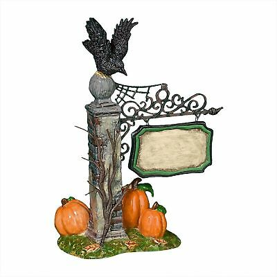 Department 56 Village Spooky Village sign. New in box retired Halloween