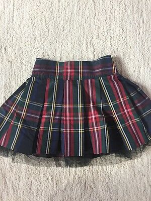 NWT Girls BABY GAP Red Green Blue Plaid Tulle Skirt Diaper Cover 2T
