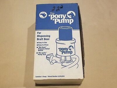 "The Pony Pump Keg Tap For Dispensing Draft Beer with Box & Manual ""Miller Lite"""