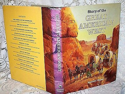 GREAT AMERICAN WEST by READERS DIGEST~1987 HB/DJ~HISTORY~COWBOYS~INDIANS~OUTLAWS