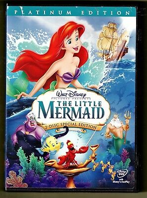 The Little Mermaid Platinum Edition (DVD, 2006] Walt Disney Pictures 2-Disc Set