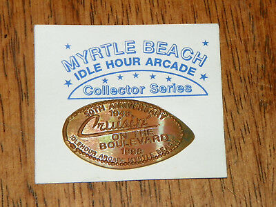 MYRTLE BEACH Idle Hour Arcade 50th Anniversary 1998 Elongated Pressed Penny