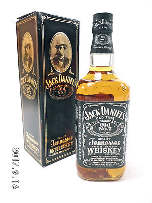 Jack Daniels Vintage Aust. Bottle With Rare Old box 750ml 43% Full/Sealed-Rare!