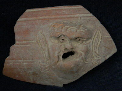 Ancient Bactrian C.300 BC Teracotta Head No Reserve Auction  ###TR875###