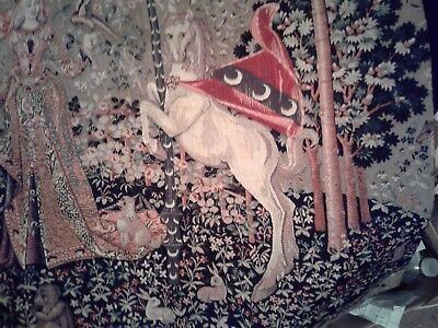 """Vintage French Tapestry.....24""""  X. 36"""" Size....age ??.....condition Near Mint!!"""
