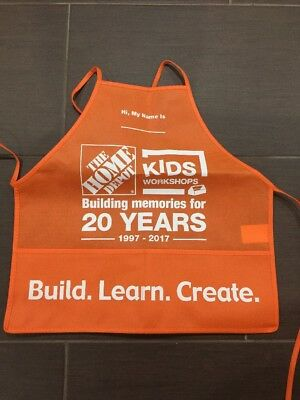 Home Depot KIDS WORKSHOPS Apron Build Learn Create NEW Boys Girls, One Size