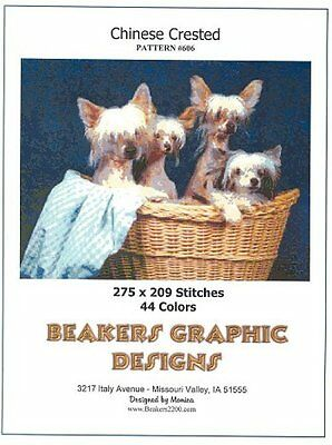 CHINESE CRESTED Counted Counted Cross Stitch detailed #0606